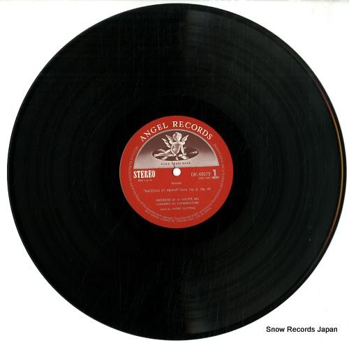 CLUYTENS, ANDRE roussel; bacchus et ariane suite no.2 EAC-40079 - disc