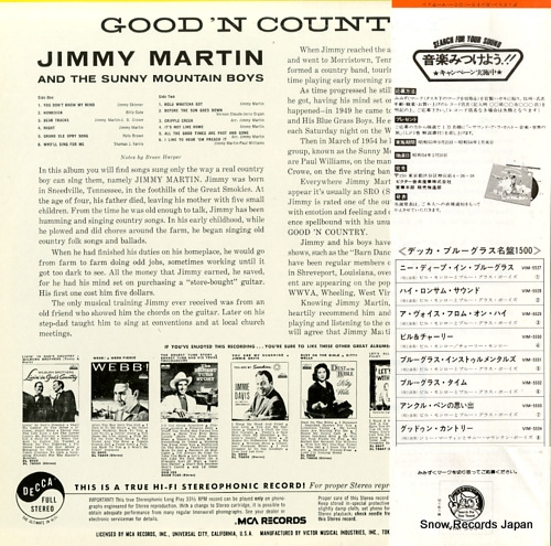 MARTIN, JIMMY good'n country VIM-5534 - back cover