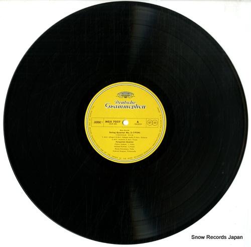 HUNGARIAN STRING QUARTET bartok; string quartet no.5 & no.6 MGX7027 - disc
