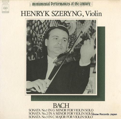 SZERYNG, HENRYK bach; sonata no.1, no.2 & no.3 SOCU26 - front cover