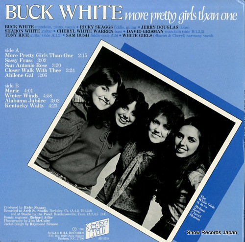 WHITE, BUCK more pretty girls than one SH-3710 - back cover