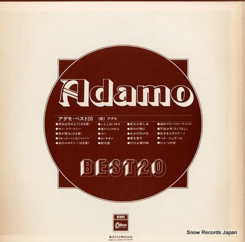 ADAMO best 20 EOS-90004 - back cover