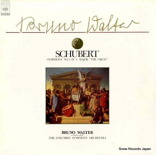 WALTER, BRUNO schubert; symphony no.9 in c major