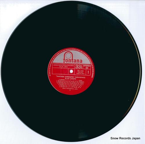 HARASIEWICZ, ADAM chopin; fantaisie-impromptu FG-310 - disc