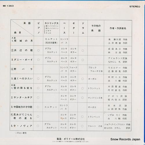 OHNUKI, SHINICHIRO the world of shinichiro MI1363 - back cover