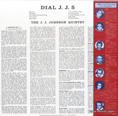JOHNSON, J.J. dial j.j.5 20AP1819 - back cover