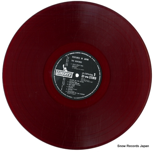 VENTURES, THE ventures in japan LP-7270 - disc