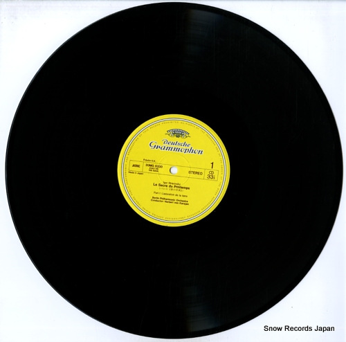 KARAJAN, HERBERT VON stravinsky; the rite of spring 20MG0330 - disc