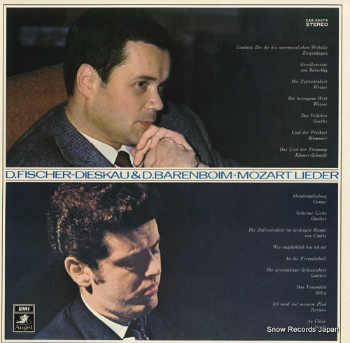 FISCHER=DIESKAU, DIETRICH, AND DANIEL BARENBOIM mozart; lieder EAA-80074 - front cover