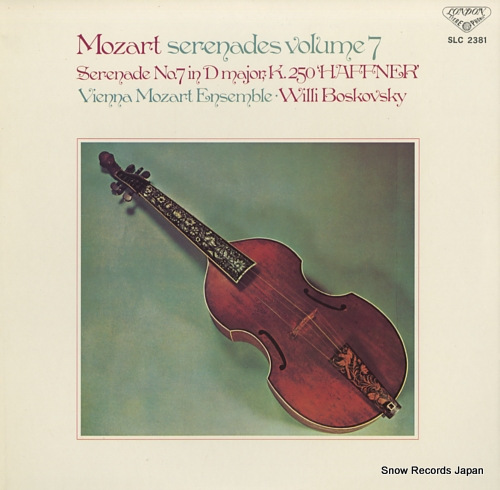 BOSKOVSKY, WILLI mozart; serenades volume 7 SLC2381 - front cover