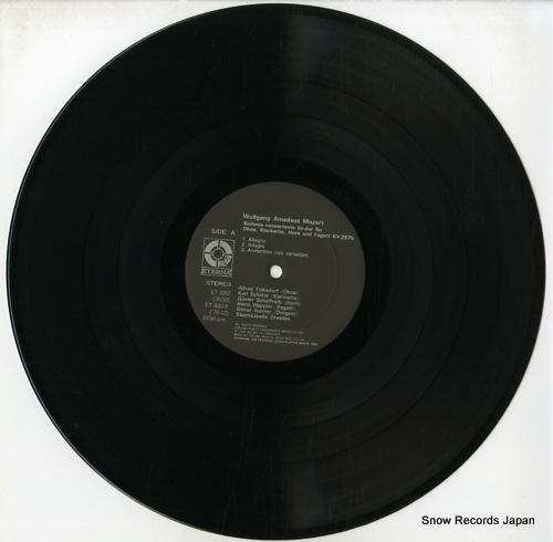 SUITNER, OTMAR mozart; sinfonia concertante kv.297b ET-3062 - disc