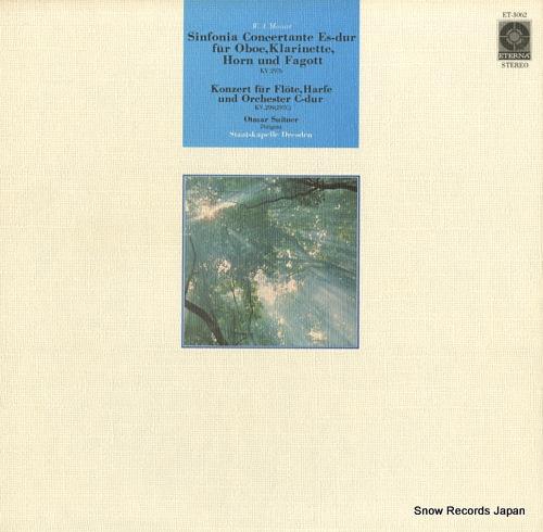 SUITNER, OTMAR mozart; sinfonia concertante kv.297b ET-3062 - front cover