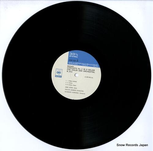 STERN, ISAAC mozart; violin concertos nos.2 & 4 25AC404 - disc