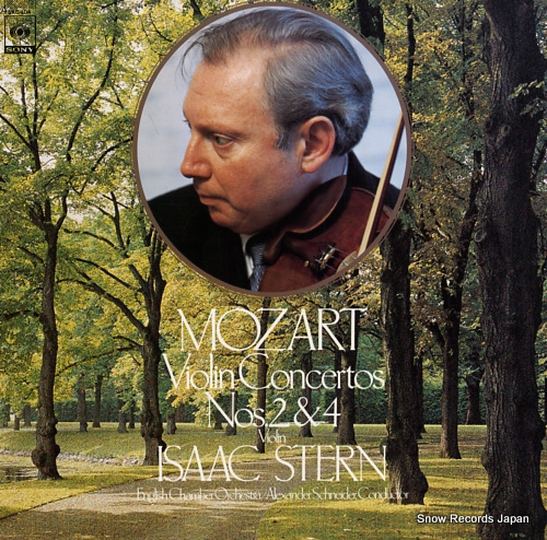 STERN, ISAAC mozart; violin concertos nos.2 & 4 25AC404 - front cover