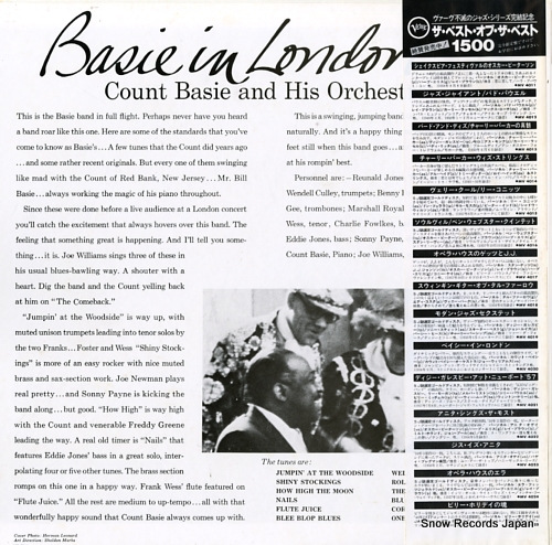 BASIE, COUNT basie in london MV4020 - back cover