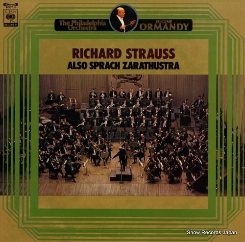 ORMANDY, EUGENE richard strauss; also sprach zarathustra SOCT11 - front cover