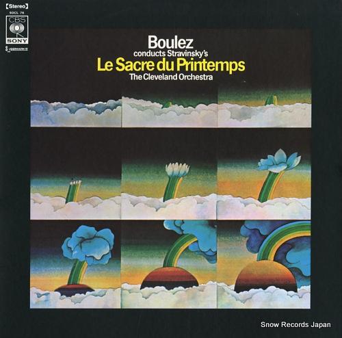 BOULEZ, PIERRE stravinsky; le sacre du printemps SOCL76 - front cover
