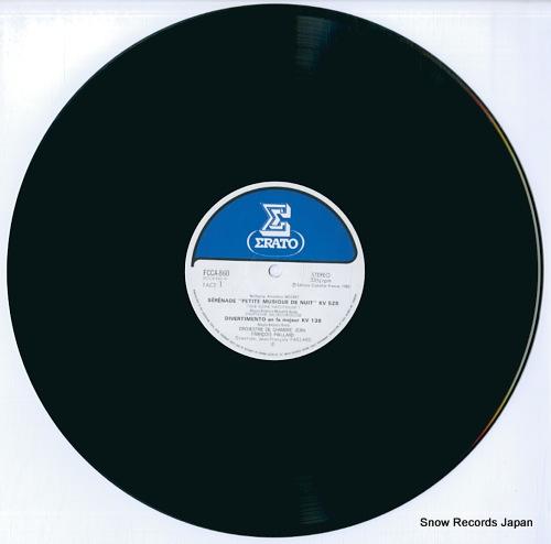 PAILLARD, JEAN-FRANCOIS eine kleine nachtmusik - mozart's orchestral works FCCA860 - disc