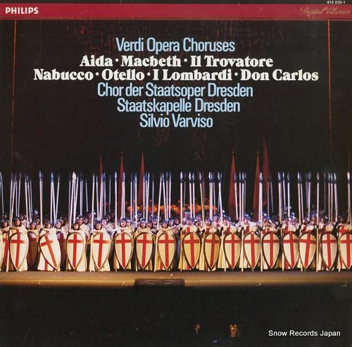 VARVISO, SILVIO verdi opera choruses 412235-1 - front cover