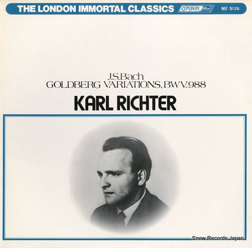 RICHTER, KARL bach; goldberg variations, bwv.988 MZ5126 - front cover