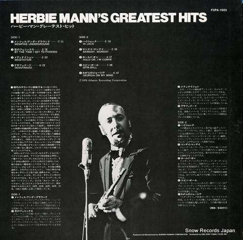MANN, HERBIE herbie mann's greatest hits FCPA-1023 - back cover