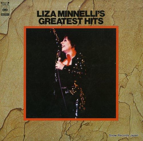 MINNELLI, LIZA liza minnelli's greatest hits FCPA-45 - front cover