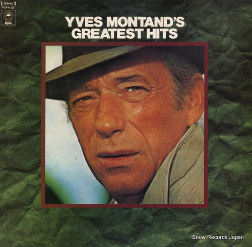 MONTAND, YVES yves montand's greatest hits FCPA-27 - front cover
