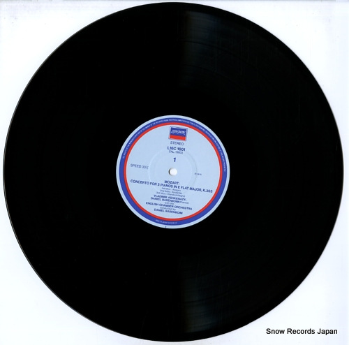 ASHKENAZY/TS'ONG/BARENBOIM mozart; concerto for two pianos, k.365 L16C-1601 - disc