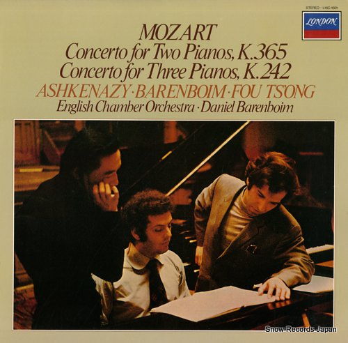 ASHKENAZY/TS'ONG/BARENBOIM mozart; concerto for two pianos, k.365 L16C-1601 - front cover