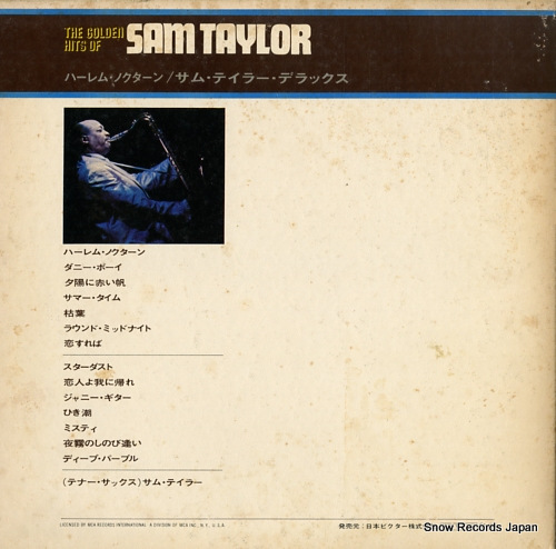 TAYLOR, SAM the golden hits of sam taylor MCA-7002 - back cover