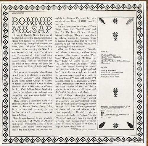MILSAP, RONNIE plain and simple JS-6179 - back cover