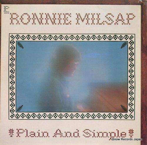 MILSAP, RONNIE plain and simple JS-6179 - front cover
