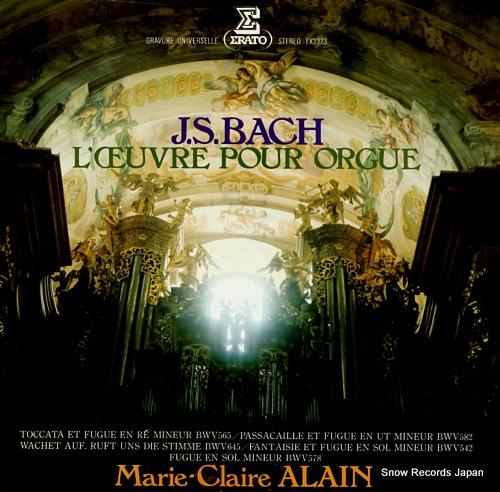 ALAIN, MARIE-CLAIRE bach; l'ceuvre pour orgue EX-2323 - front cover