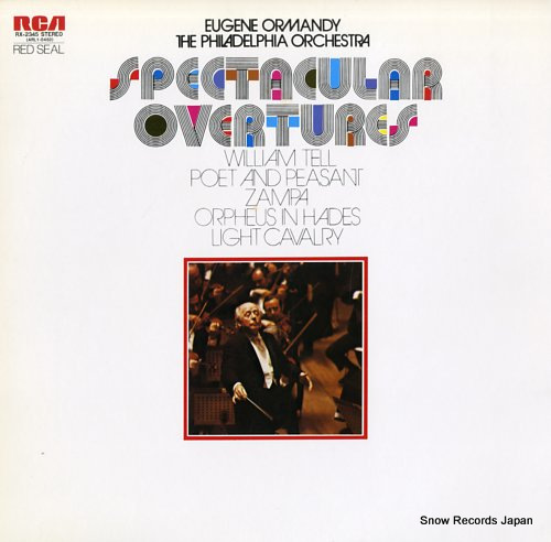 ORMANDY, EUGENE spectacular overtures RX-2345 - front cover