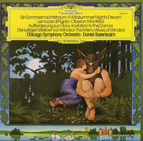 BARENBOIM, DANIEL deutsche ouverturen 2531215 - front cover