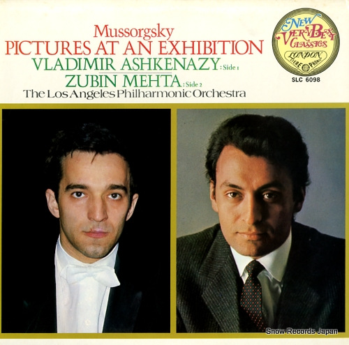 ASHKENAZY, VLADIMIR mussorgsky; pictures at an exhibition SLC6098 - front cover