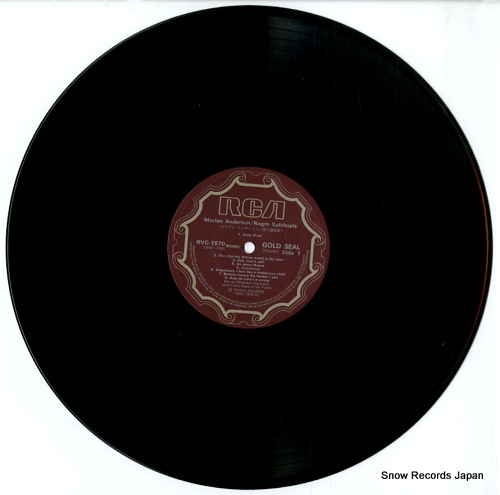 ANDERSON, MARIAN negro spirituals RVC-1570(M) - disc
