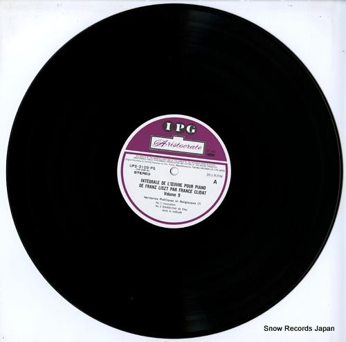 CLIDAT, FRANCE liszt; integrale de l'oeuvre pour piano 9 UPS-3109-PG - disc