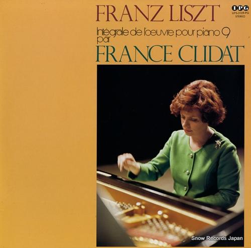 CLIDAT, FRANCE liszt; integrale de l'oeuvre pour piano 9 UPS-3109-PG - front cover