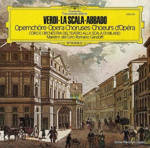 ABBADO, CLAUDIO verdi; opera choruses 2530549 - front cover
