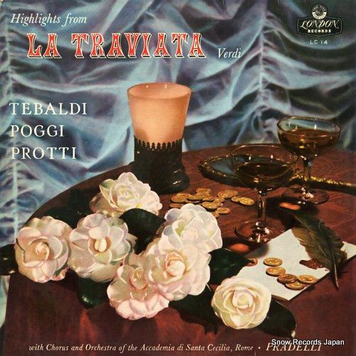 PRADELLI, FRANCESCO MOLINARI verdi; la traviata highlights LC14 - front cover