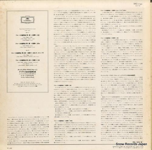 BLAU, ANDREAS mozart; flute quartets MG1143 - back cover