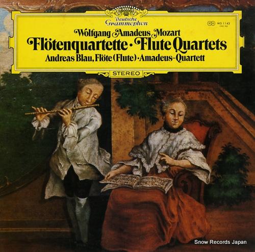 BLAU, ANDREAS mozart; flute quartets MG1143 - front cover