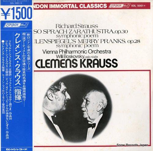 KRAUSS, CLEMENS richard strauss; also sprach zarathustra, op.30 SOL5001M - front cover