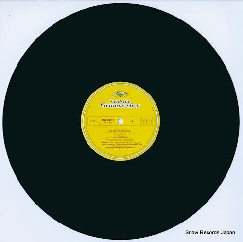 KARAJAN, HERBERT VON verdi; messa da requiem MG8022/3 - disc