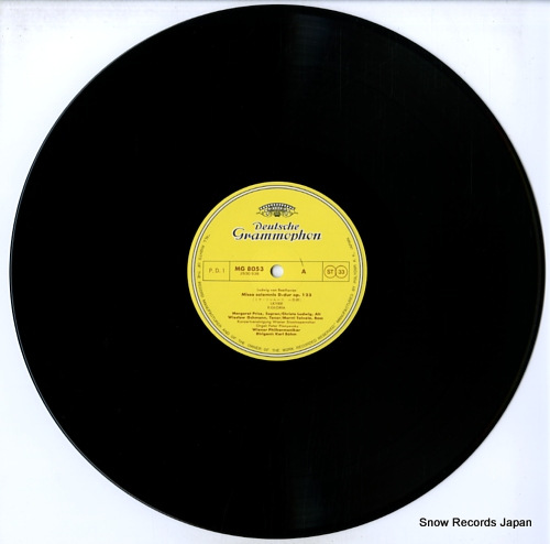 BOHM, KARL beethoven; missa solemnis MG8053/4 - disc