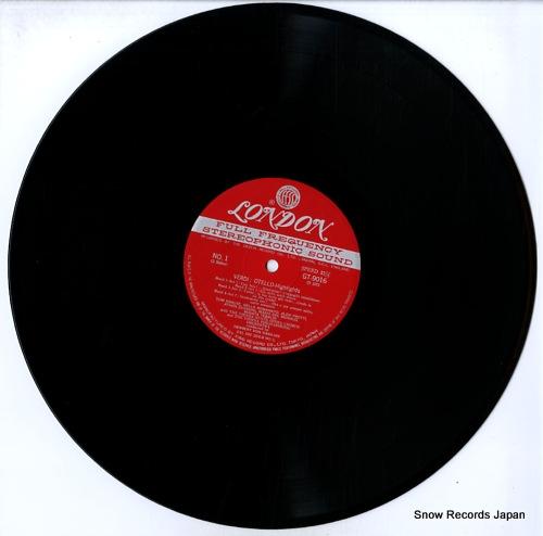 KARAJAN, HERBERT VON verdi; otello highlights GT9016 - disc