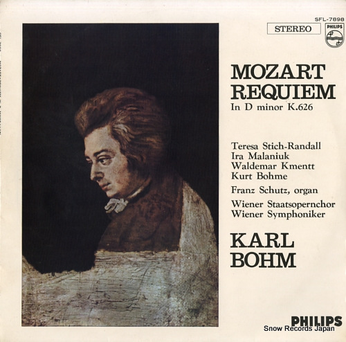 BOHM, KARL mozart; requiem in d minor k.626 SFL-7898 - front cover