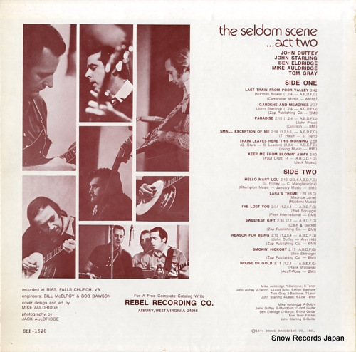 SELDOM SCENE, THE act two SLP-1520 - back cover