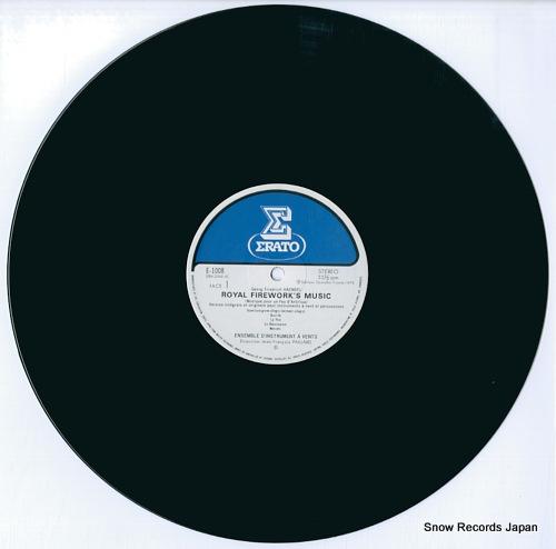 PAILLARD, JEAN-FRANCOIS haendel; royal firework's music E-1008 - disc